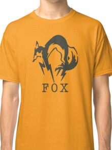 Metal Gear Solid - FOX (Black + Text) Classic T-Shirt