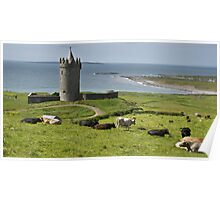 european irish castle in county clare Poster