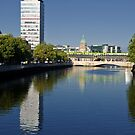 dublin city skyline over the river liffey by Noel Moore Up The Banner Photography