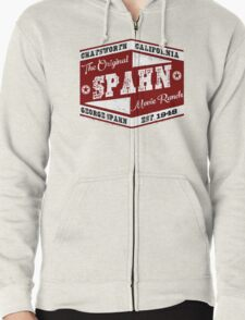 Original Spahn Movie Ranch Design Manson Family Zipped Hoodie