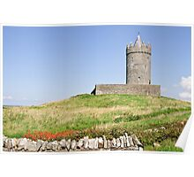 irish castle in doolin county clare Poster