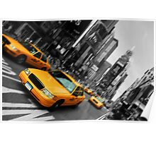 new york times square yellow taxi Poster