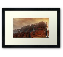 Xanadu sunset Framed Print