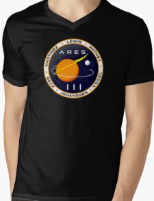 Ares 3 mission to Mars - The Martian Mens V-Neck T-Shirt