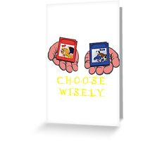 Red or Blue? Greeting Card
