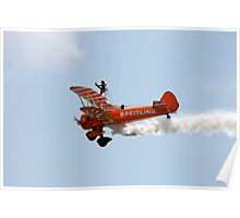 Biplane Wing walker air show display Poster