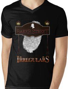 Sherlock Holmes Baker Street Irregulars Design Mens V-Neck T-Shirt