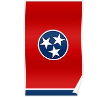 State Flags of the United States of America -  Tennessee-vert Poster