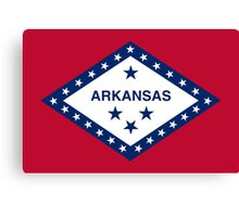 State Flags of the United States of America -  Arkansas Canvas Print