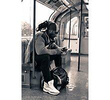 London Underground Traveller Photographic Print