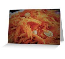 Pumpkin Guts Greeting Card