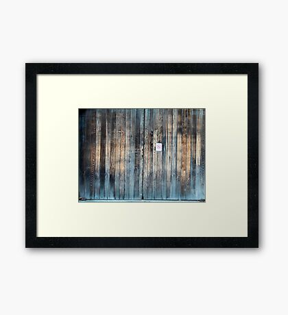 Salty Framed Print