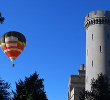 Arundel Castle & Hot Air Balloon by Paul Rumsey
