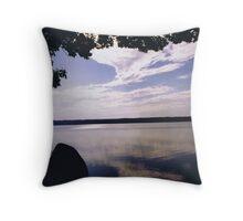 Cloud Reflection on Damariscotta Lake in Maine Throw Pillow