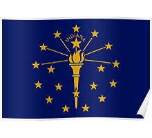 State Flags of the United States of America -  Indiana Poster