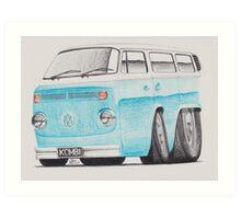 VW Kombi/Transporter by Glens Graphix Art Print