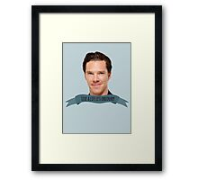 "benedict cumberbatch: ""live a life less ordinary"" Framed Print"