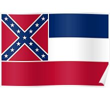 State Flags of the United States of America -  Mississippi Poster