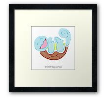 #007 Squirtle Framed Print