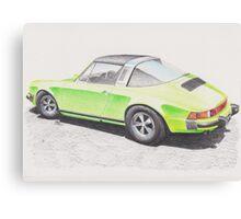 Porsche Targa 1974 by Glens Graphix Canvas Print