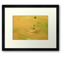 Droplets in Green and Yellow Framed Print