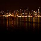Seattle at Night by DiamondCactus