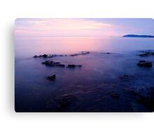 The beautiful Istrian coastline  Canvas Print