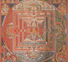 Thangka painting of Manjuvajra Mandala by slr81