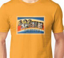 Los Angeles Vintage Travel Postcard Restored Unisex T-Shirt