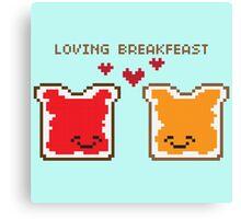 Loving Breakfeast Canvas Print