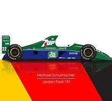 Michael Schumacher - Jordan 191 by JageOwen