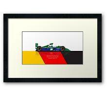 Michael Schumacher - Jordan 191 Framed Print