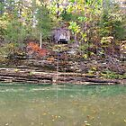 Old Boat House, w/Lift Rail, War Eagle River, Arkansas by David  Hughes
