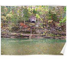 Old Boat House, w/Lift Rail, War Eagle River, Arkansas Poster