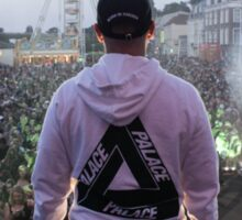 Palace Triangle / Live Artist Wearing Hoodie Sticker