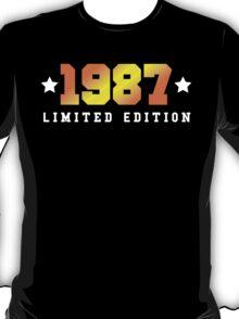 1987 Limited Edition Birthday Shirt T-Shirt