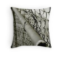Chain Link Fence Repairs Throw Pillow