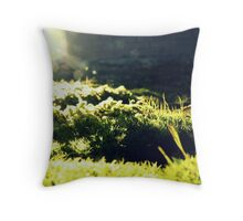 Moss-scape Throw Pillow