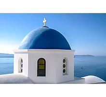 Church in Santorini Photographic Print