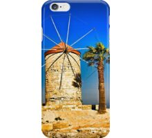 Ancient windmill in Rhodes iPhone Case/Skin