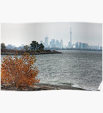 Toronto Autumn Skyline Poster