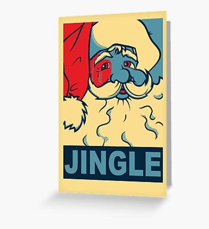 JINGLE Greeting Card