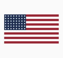 Historical Flags of the United States of America 1912 to 1959 US Flage with 48 Stars and 13 Stripes One Piece - Short Sleeve