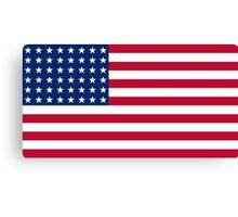Historical Flags of the United States of America 1912 to 1959 US Flage with 48 Stars and 13 Stripes Canvas Print