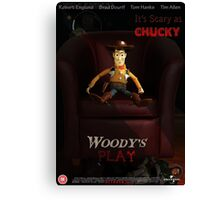 Toy Story Woody Chucky  Canvas Print