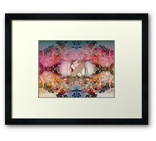Nature and Human Forces Framed Print