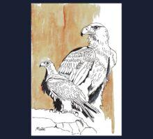 Black Eagle (Aquila verreauxii) One Piece - Short Sleeve