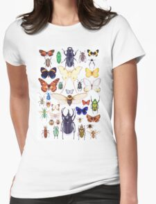 Insect collection Womens Fitted T-Shirt