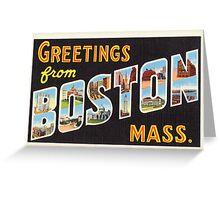 Boston Vintage Travel Postcard Restored Greeting Card