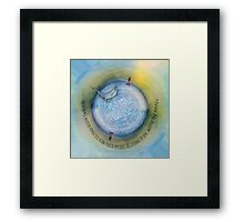 Courage to Lose Sight of the Shore Orb Mini World Framed Print